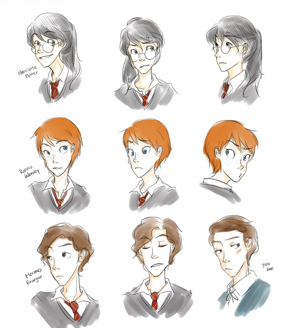 Imagen galeria  11 fanarts de Harry Potter con el género intercambiado 8