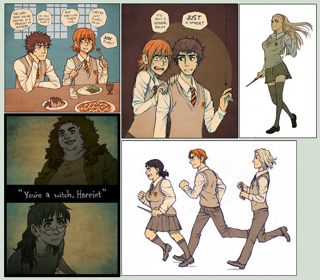 Imagen galeria  11 fanarts de Harry Potter con el género intercambiado 7