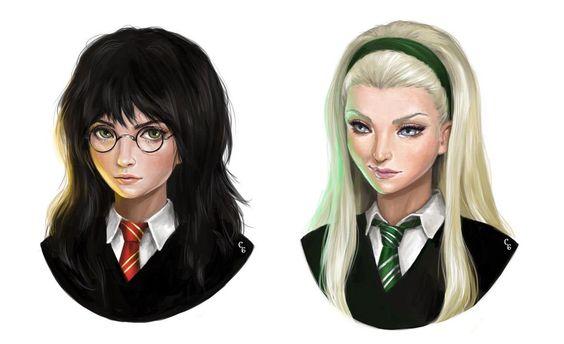 Imagen galeria  11 fanarts de Harry Potter con el género intercambiado 3