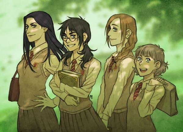 Imagen galeria  11 fanarts de Harry Potter con el género intercambiado 2