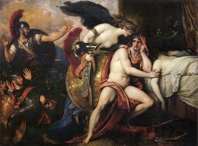 Cuadro de la muerte de Patroclo