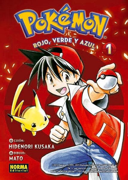 Portada libro - Pokemon 1. Rojo, verde y azul 1