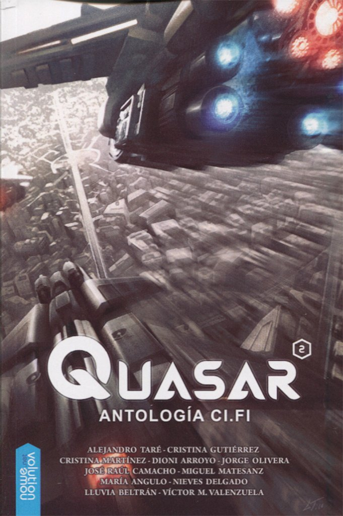 Portada libro - Quasar 2, antología Ci.Fi