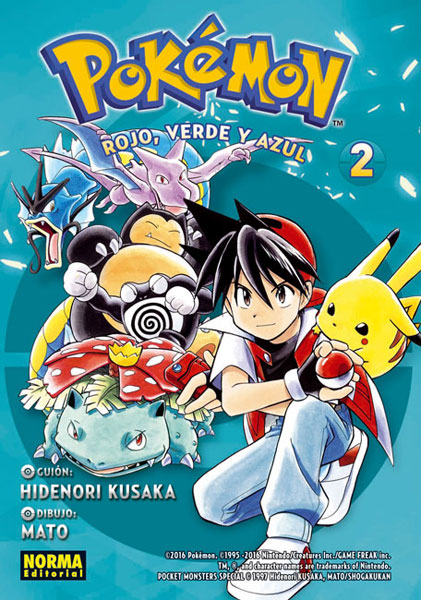Portada libro - Pokémon Rojo, Verde y Azul 2
