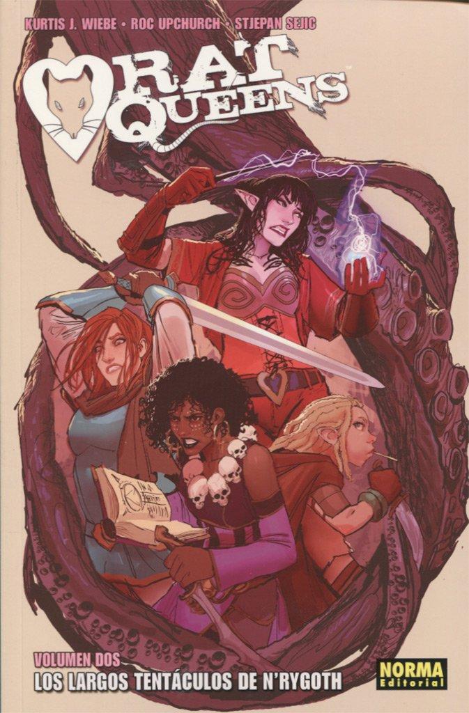 Portada libro - Rat Queens 2: Los largos tentáculos de N´rygoth