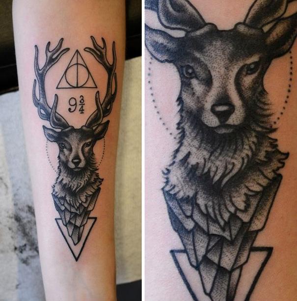 25 tatuajes inspirados en libros - harry potter 3