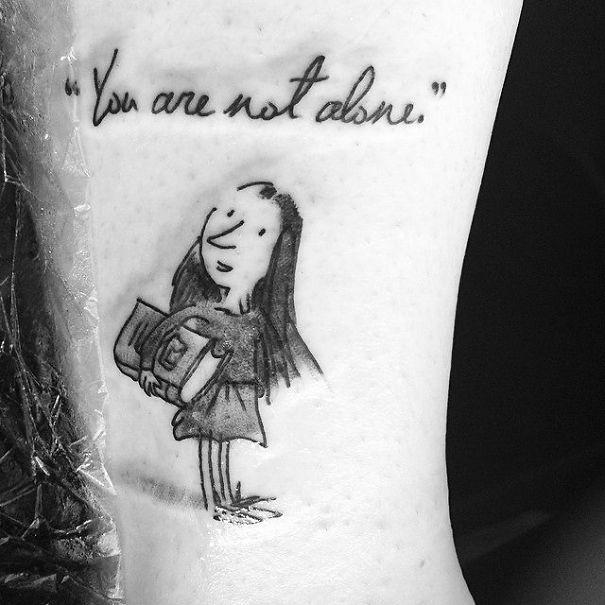 25 tatuajes inspirados en libros - matilda