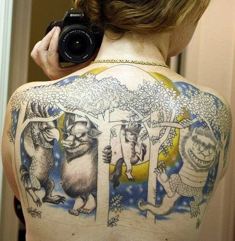 25 tatuajes inspirados en libros - where the wild things are